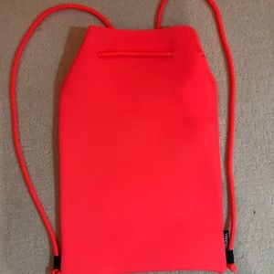 Triangl Neoprene backpack. Bright orange